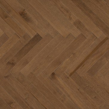 Brown Maple Hardwood flooring / Savanna Mirage Herringbone