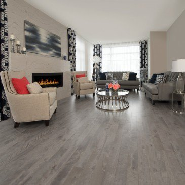 Grey Yellow Birch Hardwood flooring / Peppermint Mirage Sweet Memories / Inspiration