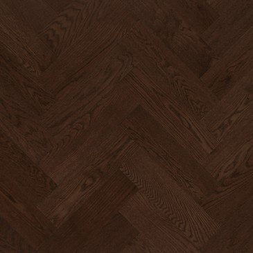 Brown Red Oak Hardwood flooring / Coffee Mirage Herringbone