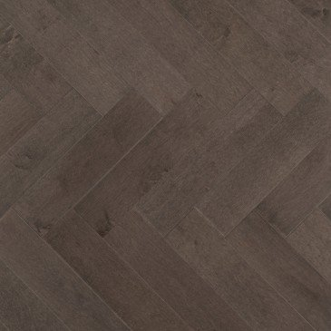 Brown Maple Hardwood flooring / Charcoal Mirage Herringbone