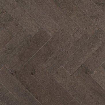 Brown Maple Hardwood flooring / Charcoal Mirage Herringbone