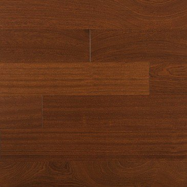 Brown African Mahogany Hardwood flooring / Brass Mirage Exotic