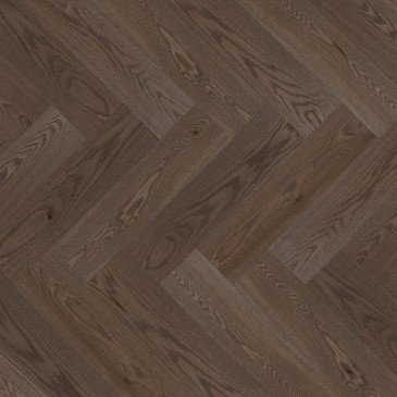Brown Red Oak Hardwood flooring / Charcoal Mirage Herringbone