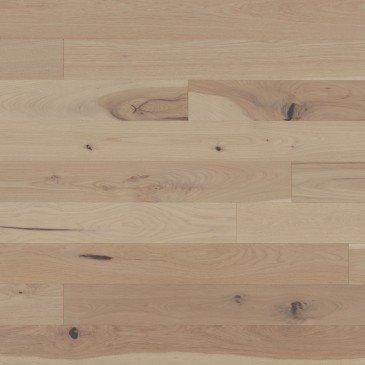 Pale grey Hickory Hardwood flooring / Desert rose Mirage Flair