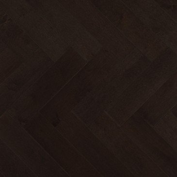 Brown Maple Hardwood flooring / Graphite Mirage Herringbone