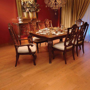 Orange Red Oak Hardwood flooring / Auburn Mirage Herringbone / Inspiration