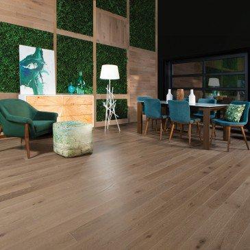Planchers de bois franc Chêne Blanc Brun / Mirage Herringbone Sand Castle / Inspiration