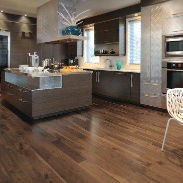 Brown Walnut Hardwood flooring / Savanna Mirage Herringbone / Inspiration