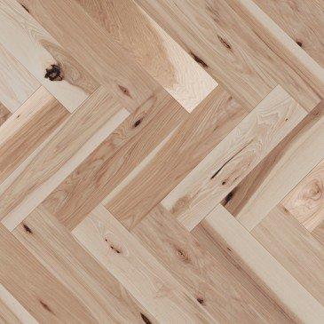 Natural Hickory Hardwood flooring / Natural Mirage Herringbone