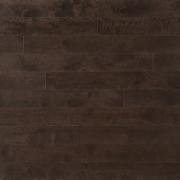 Brown Yellow Birch Hardwood flooring / Black Jelly Bean Mirage Sweet Memories