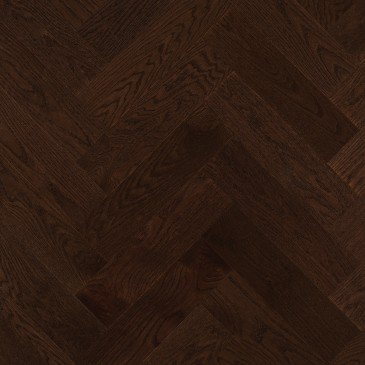 Brown Red Oak Hardwood flooring / Java Mirage Herringbone
