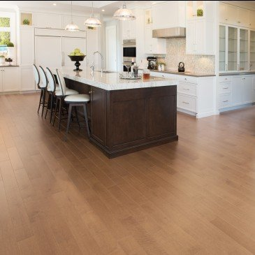 Golden Maple Hardwood flooring / Sierra Mirage Herringbone / Inspiration