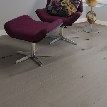 Brown Maple Hardwood flooring / Grey Drizzle Mirage Herringbone / Inspiration