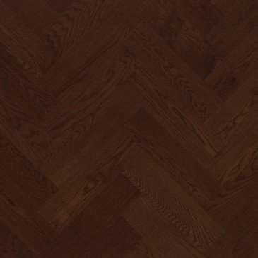 Brown Red Oak Hardwood flooring / Vienna Mirage Herringbone