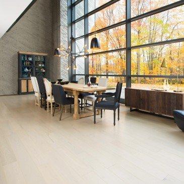 Beige Red Oak Hardwood flooring / Cape Cod Mirage Herringbone / Inspiration