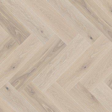 White White Oak Hardwood flooring / Bubble Bath Mirage Herringbone