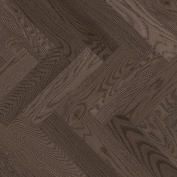 Grey Red Oak Hardwood flooring / Platinum Mirage Herringbone