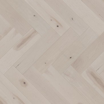 White Maple Hardwood flooring / Snowdrift Mirage Herringbone