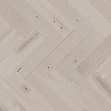 White Maple Hardwood flooring / Snowdrift Mirage Herringbone