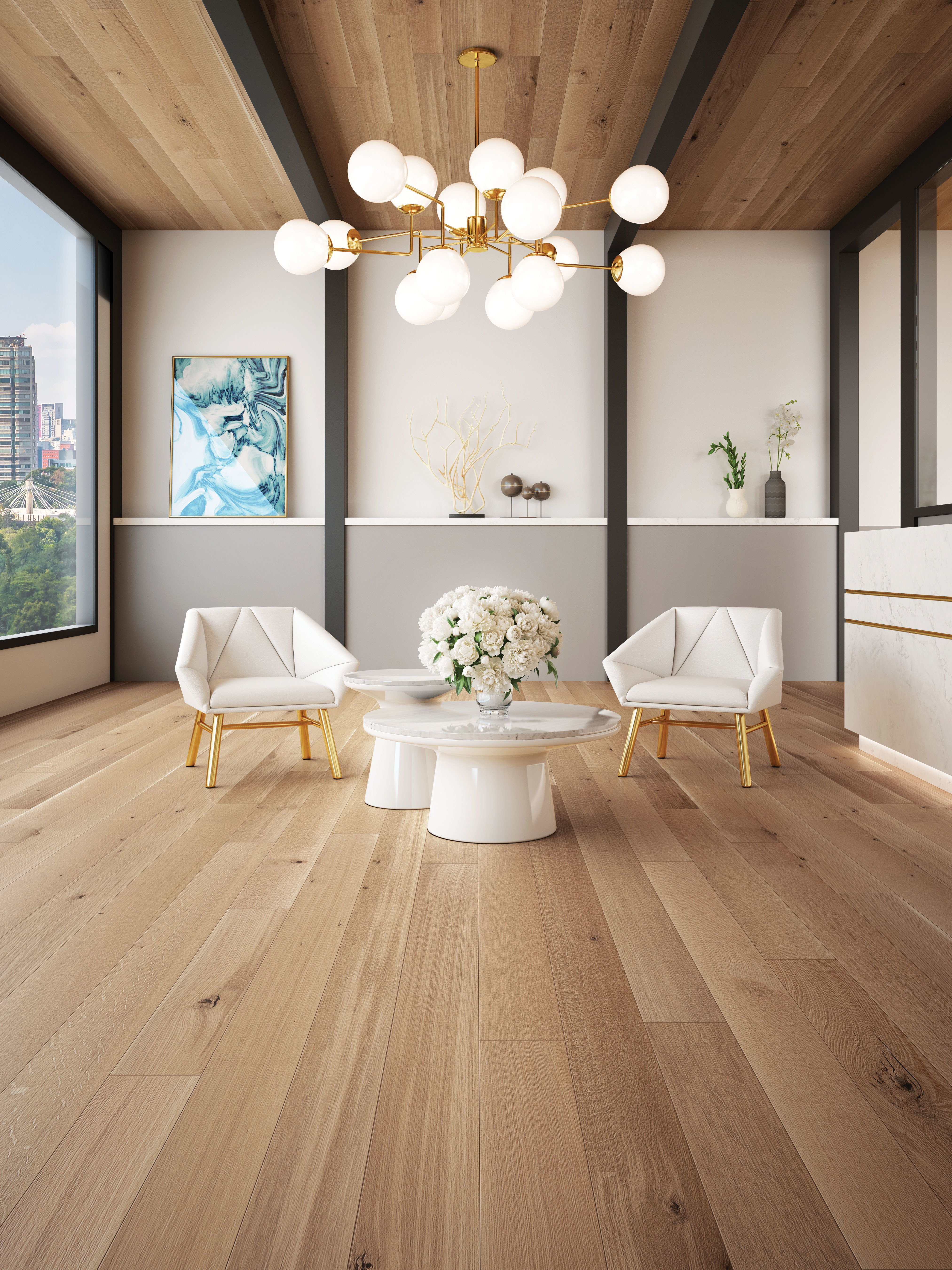 White Oak R&Q Character Brushed - Ambience image