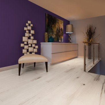 White Maple Hardwood flooring / Snowdrift Mirage Herringbone / Inspiration