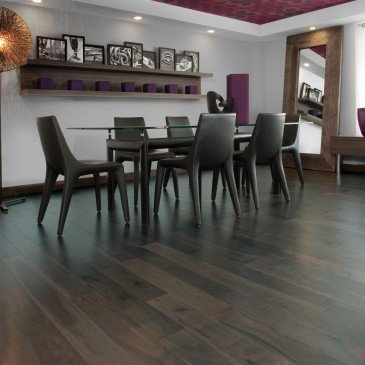 Brown Walnut Hardwood flooring / Charcoal Mirage Herringbone / Inspiration